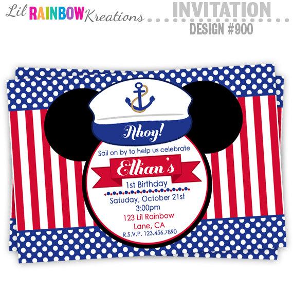 Temas para Invitaciones de Mickey Mouse