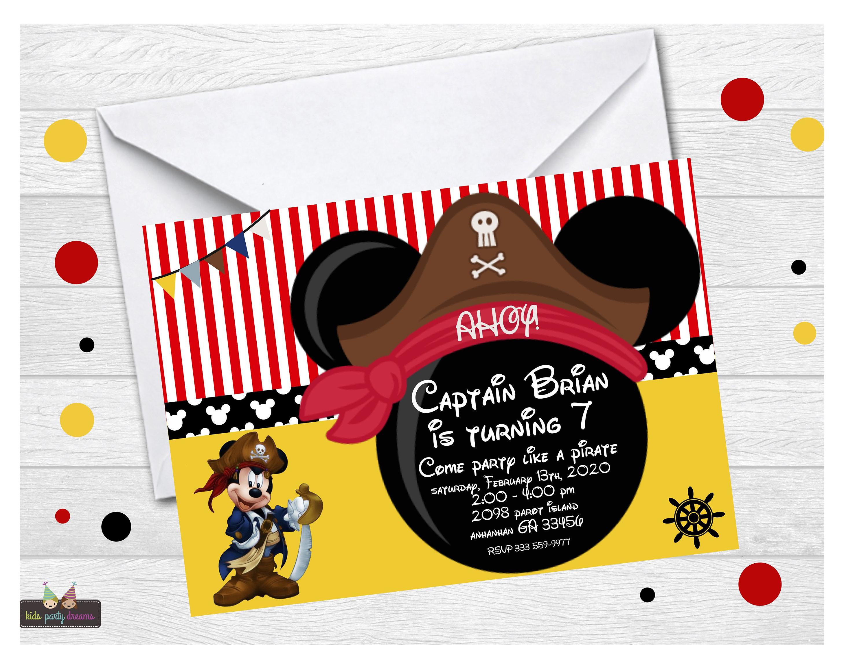 Invitaciones de Mickey Mouse En Linea