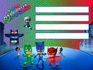 invitaciones para imprimir heroes en pijama