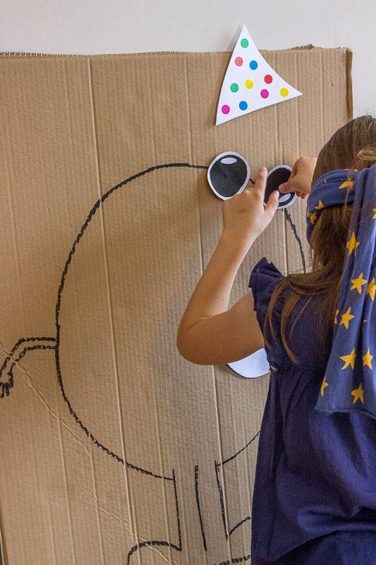 juegos infantiles para fiestas dibujar a ciegas