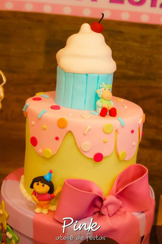 pastel de dora la exploradora