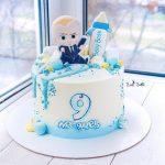 pastel de jefe en pañales