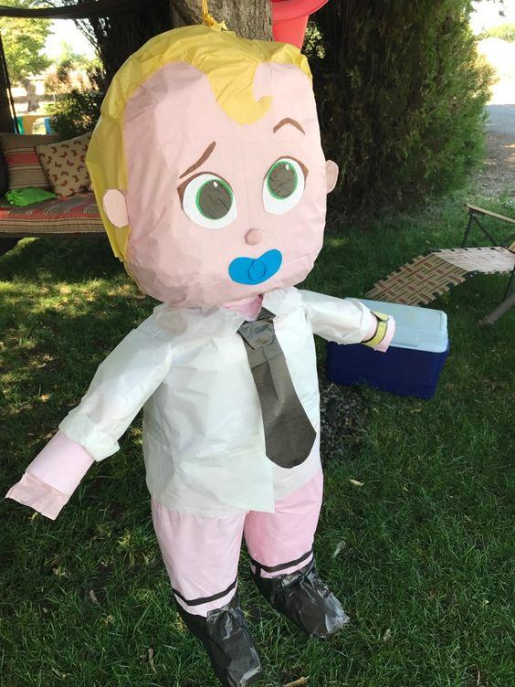 piñata de jefe en pañales