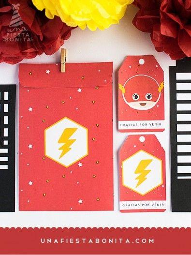 Adornos para fiesta infantil de flash