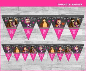 Banderines de candy bar masha y el oso