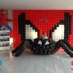 Como decorar la entrada de una fiesta tematica del hombre araña