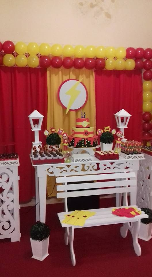 Decoración de flash para fiesta infantil