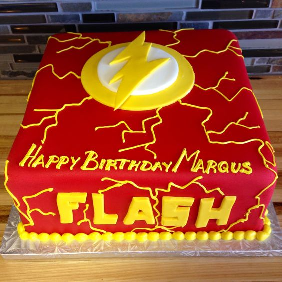 Diseños de pasteles con tema de flash