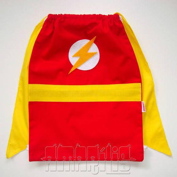 Dulceros para fiesta infantil con tema de flash