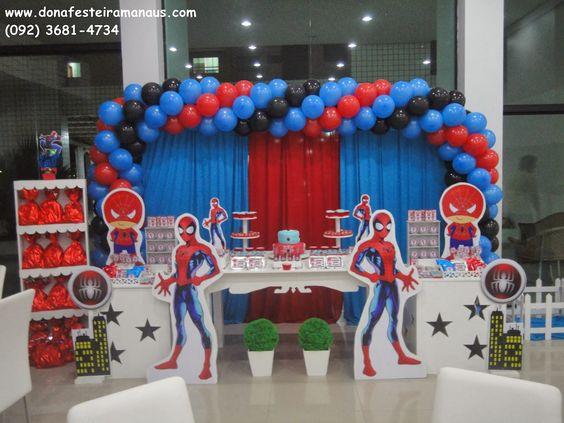 ideas para decorar una fiesta temática del hombre araña