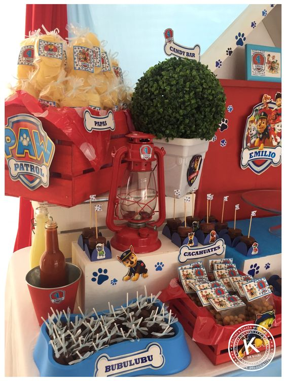 candy bar de paw patrol 2018
