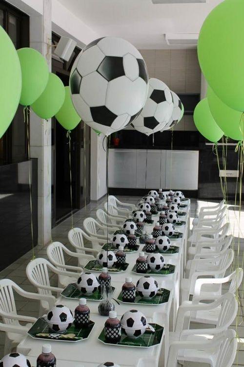 Fiesta Infantil Con Tema De Futbol Dulceros Centros De Mesa Y Mas
