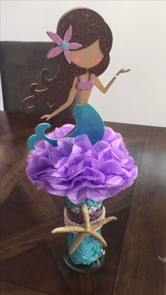 Centros de mesa de mermaid