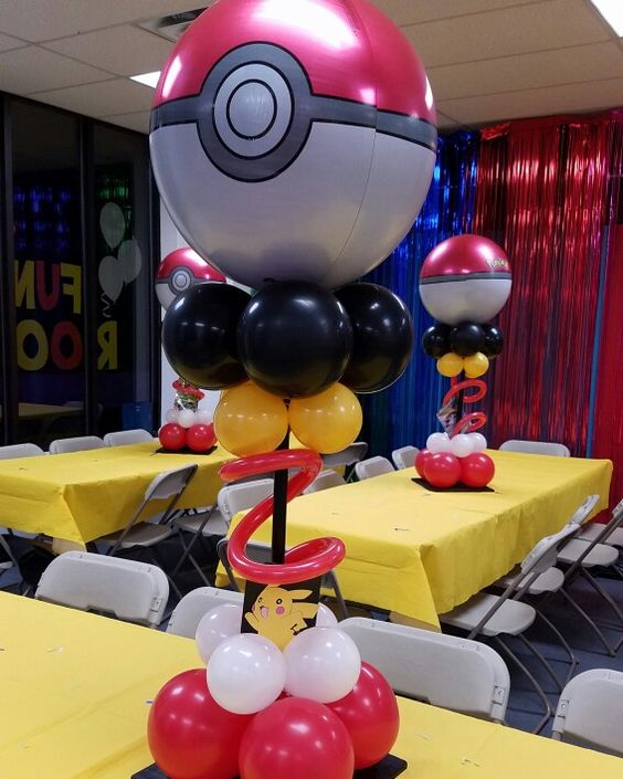 Centros de mesa de pokemon