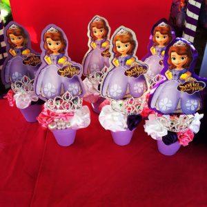 Centros de mesa de princesita sofia