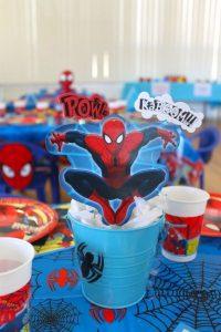 Centros de mesa de spiderman