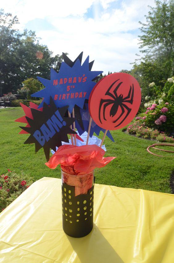 centro de mesa hombre araña