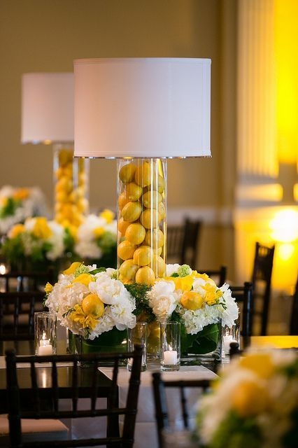 Fiesta tem tica de limones todo para una fiesta de - Centros de mesa con limones ...