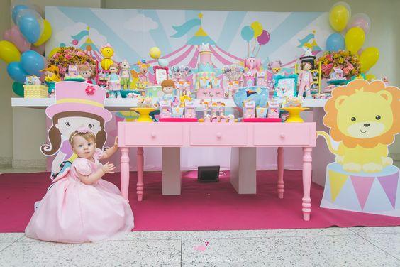 circus party para niña de 1 año