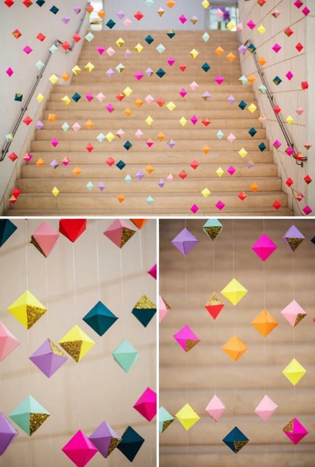 Colgantes modernos para decorar fiestas