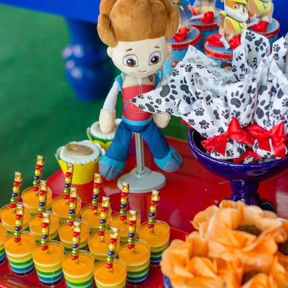 colores para candy bar de paw patrol