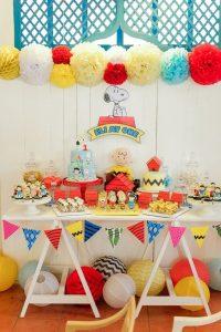 cumpleaños tematico de snnopy