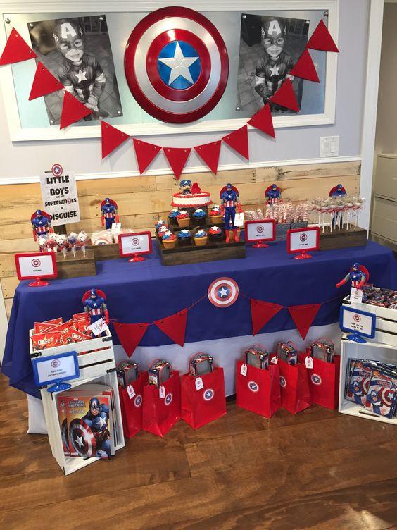 decoracion de capitan america para fiestas (2)