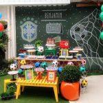 Fiesta infantil con tema de futbol