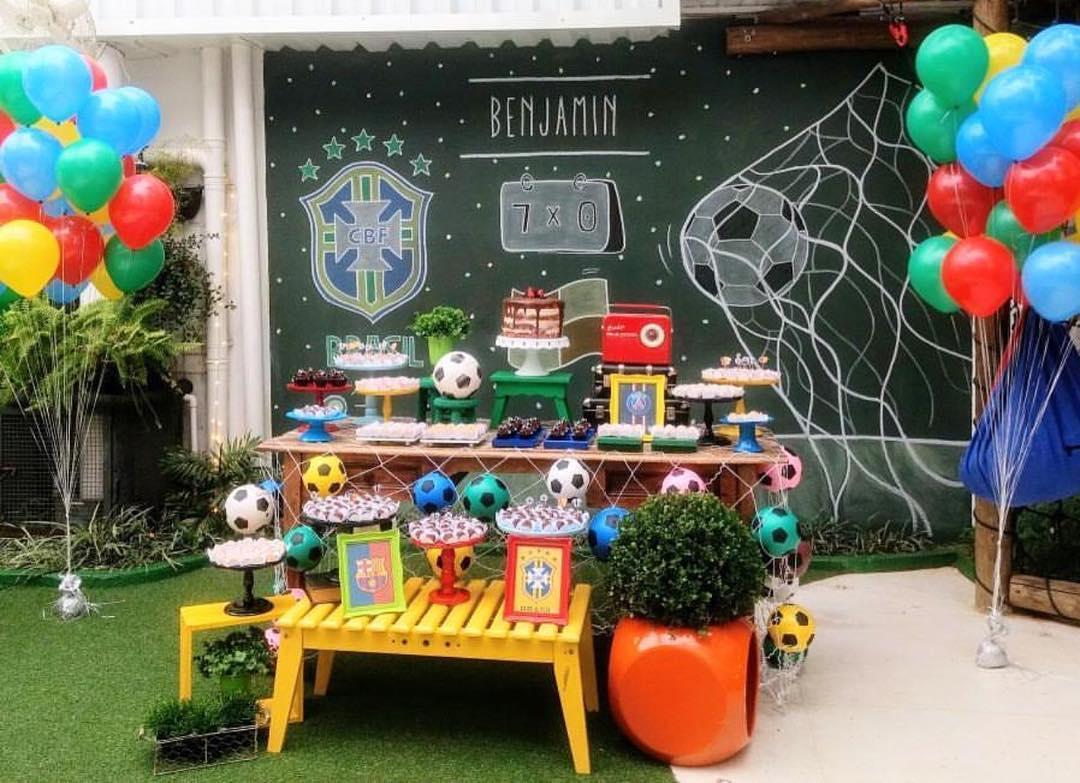 decoracion de futbol para fiesta infantil