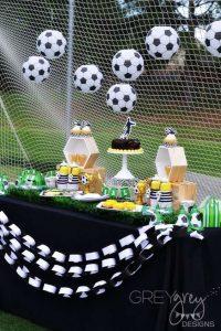 Decoración de futbol para fiestas