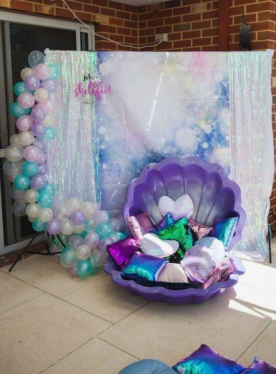 Decoración de mermaid para fiestas