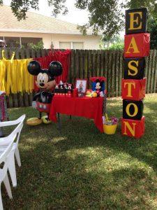 Decoración de mickey mouse para fiestas