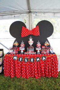 Decoración de minnie mouse para fiestas