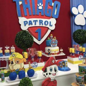 Decoración de paw patrol para fiestas