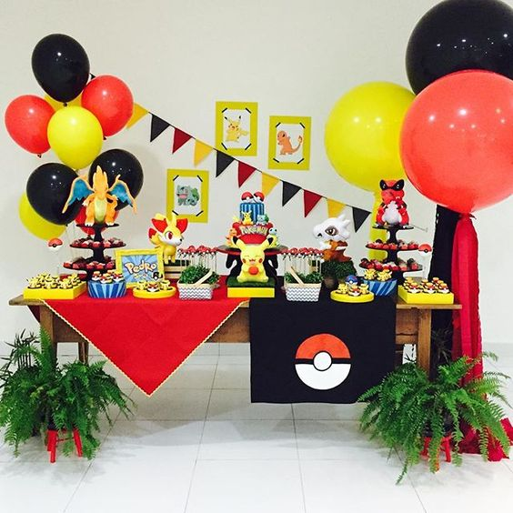 Decoración de pokemon para fiestas