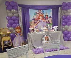 Decoración de princesita sofia para fiestas