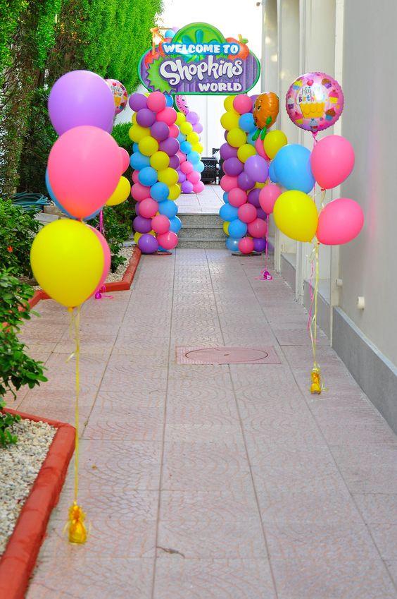 Decoración de Shopkins para fiestas