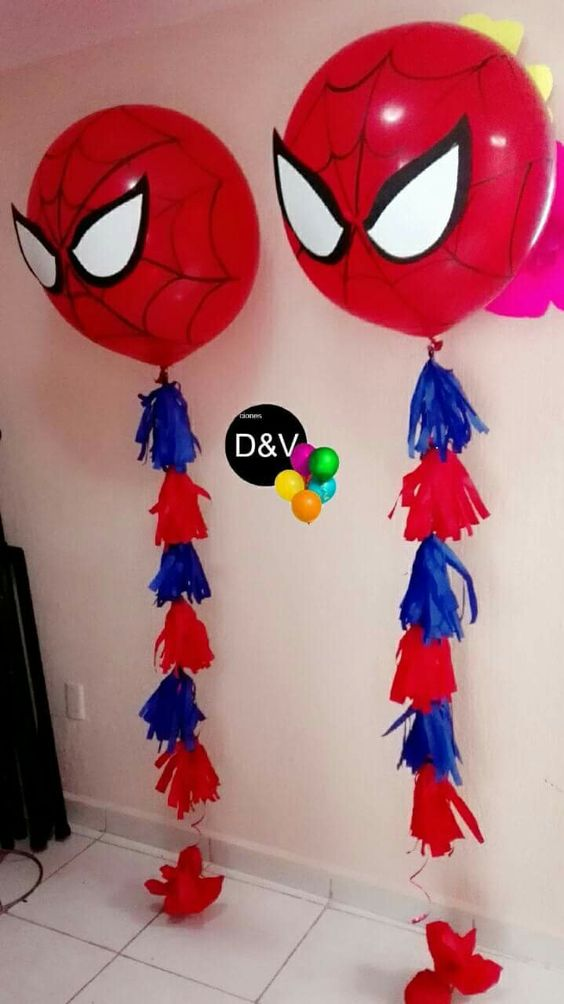 Decoración de spiderman para fiestas