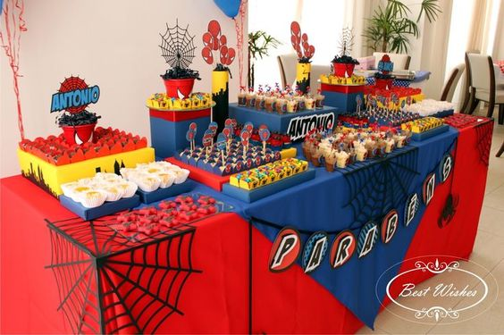 decoracion de spiderman para fiestas (2)