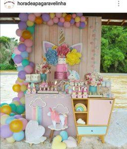 Decoración de unicornio para fiestas