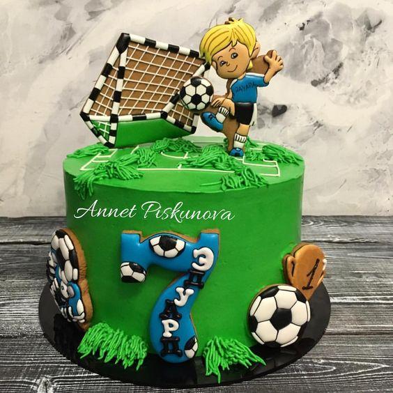 diseños de pasteles para fiesta futbol