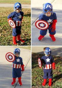 disfraces de capitan america para fiestas infantiles