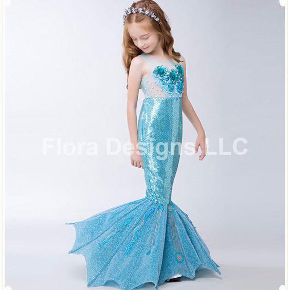 disfraces de mermaid para fiestas infantiles (2)