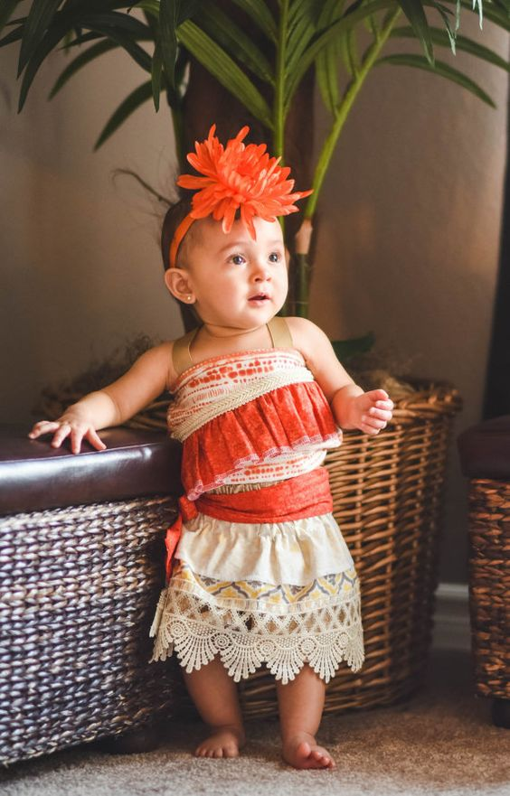 Disfraces de Moana para fiestas infantiles