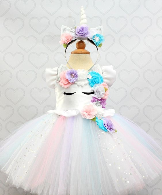 Disfraces de unicornio para fiestas infantiles