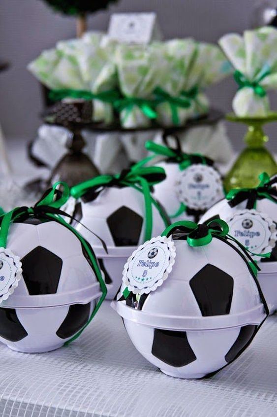 dulceros para fiesta infantil de futbol