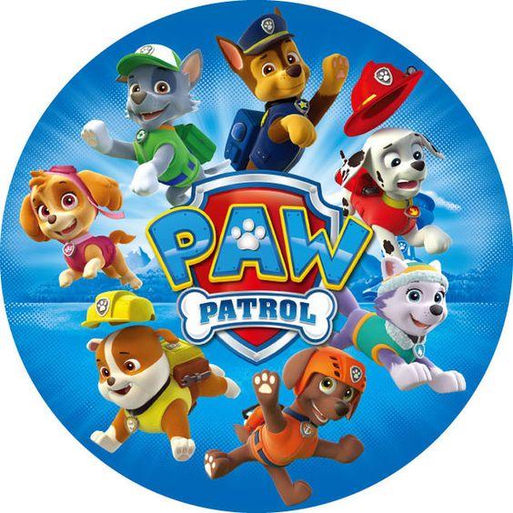 etiquetas de paw patrol para imprimir
