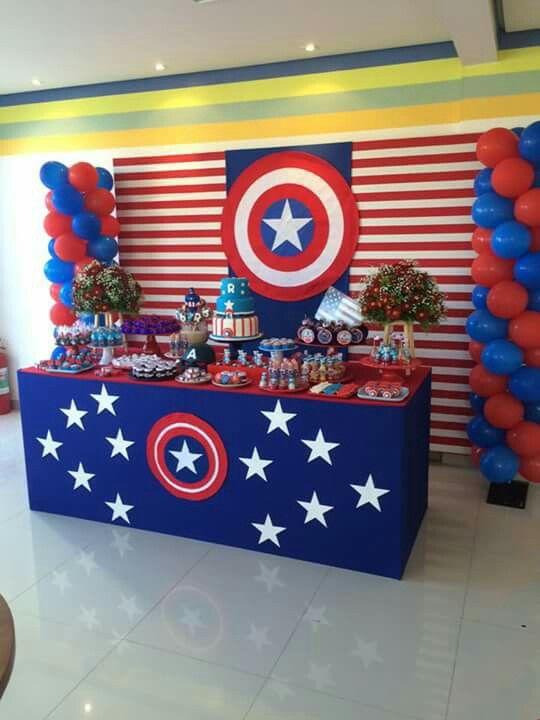Fiesta de cumpleaños de capitan america
