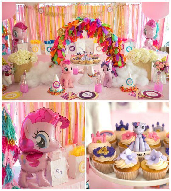 fiesta de my little pony para primer año de niñas