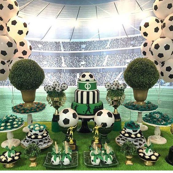 fiesta infantil con tema de football